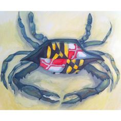 Maryland crab painting. Done on 16x20 canvas with acrylic paint.