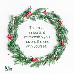 """""""The most important relationship you have is the one with yourself."""" #selfcare #selflove #holidays #christmas #quotes #inspo #skincare #organicskincare Organic Skin Care, Natural Skin Care, Christmas Quotes, Natural Medicine, Active Ingredient, Self Care, Are You The One, Health And Beauty, Plant Based"""