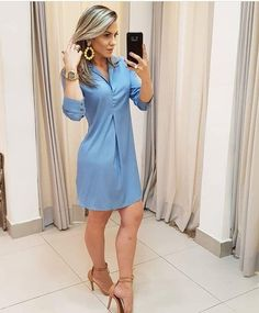 Hair e look Simple Dresses, Cute Dresses, Beautiful Dresses, Casual Dresses, Summer Dresses, Chic Outfits, Dress Outfits, Fashion Dresses, Classy Dress