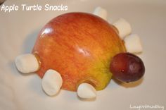Apple Turtle Snacks --My daughter's invention. (Incidentally, yes turtles only have 4 feet. We'll fix that next time. lol)