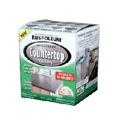 Rust-Oleum Countertop Coating will renew laminate countertops, cabinets and furniture. It will also inhibit the growth of mold and mildew.