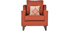 Pamplona One Seater Sofa in Coral Colour by CasaCraft by CasaCraft Online - Fabric - Furniture - Pepperfry Product