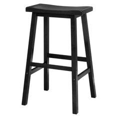 "Target Saddle Seat Barstool $30. Dimensions: 28.9 "" H x 17.91 "" W x 15.8 "" D"