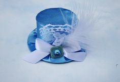 More Alice-y. Cute. :) Alice in Wonderland Mini Top Hat  Birthday by LittleLadyAccessory, $20.00