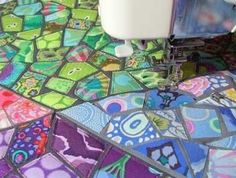 Under the Sea Party Ideas Old Quilts, Scrappy Quilts, Patchwork Quilting, Quilting Tutorials, Quilting Projects, Quilting Ideas, Sewing Projects, Fabric Art, Fabric Crafts