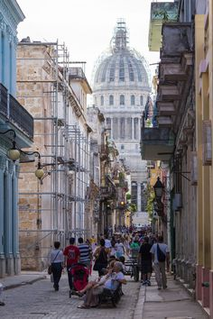 View of the Capital Building from Old Havana