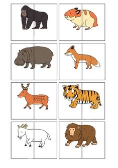 nl , animal match for preschool, free printable animals silly animals animal mashups animal printables majestic animals animals and pets funny hilarious animal Childcare Activities, Toddler Learning Activities, Animal Activities, Animal Crafts, Kindergarten Learning, Free Preschool, Preschool Worksheets, Animal Puzzle, Zoo Animals