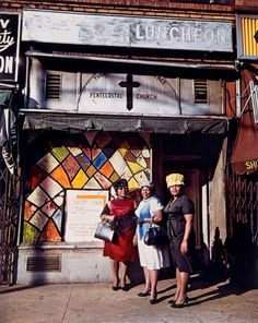 harlem church storefront ladies (1967)