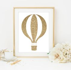 8x10 gold Nursery Decor Hot Air Balloon Nursery Art Print Printable Instant Download gold Whimsical Wall Art Digital Nursery by Designsbybiancab on Etsy https://www.etsy.com/listing/246197030/8x10-gold-nursery-decor-hot-air-balloon