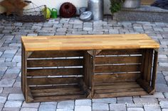 Anleitung: Wie man eine tolle (Kinder)- Sitzbank für den Flur selber bauen kann