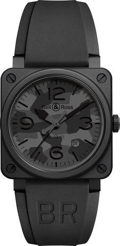 TimeZone : Industry News » N E W  M o d e l - Bell & Ross BR 03-92 Black Camo