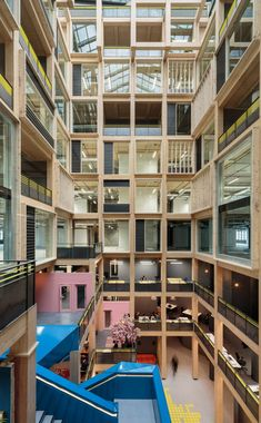 Studio RHE has created a 10-storey engineered timber atrium at the heart of the Import Building, London, as seen in this exclusive footage shot by Dezeen.
