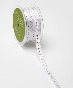 Look at this #zulilyfind! White Anchor & Stars Grosgrain Ribbon by May Arts Ribbon #zulilyfinds