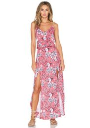 1. STATE Aster Garden V Neck Maxi Dress in Sugarcane | REVOLVE