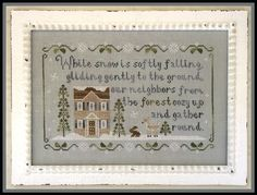 Forest Snowfall: A Cross Stitch Chart by Country Cottage Needleworks Country Cottage Needleworks, Little House Needleworks, Christmas Past, Christmas Cross, Cross Stitch Kits, Cross Stitch Patterns, Linen Stitch, Cross Stitching, Embroidery