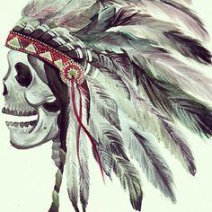 skull+indian headdress=badass art