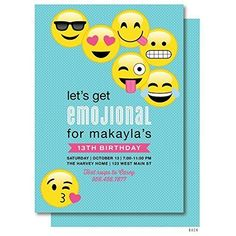 Emoji Birthday Invitation Invitations Party Themes Ideas