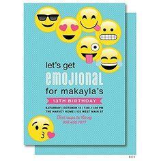 EMOJI BIRTHDAY INVITATION Emojis Emoji Invite Collectibles Boy Digital File Party Diy