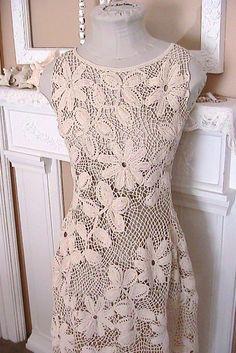 irish crochet clothing | Making an Irish Crochet Dress.