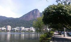 Laguna Freitas y Cristo Redentor. Río de Janeiro, Brasil.