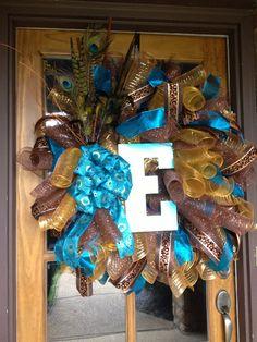 Fabulous Feathers Mesh Wreath