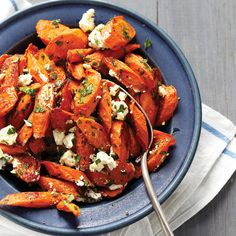 Rich, earthy carrots get a hint of tang from crumbled feta, and a sweet touch from fresh parsley.
