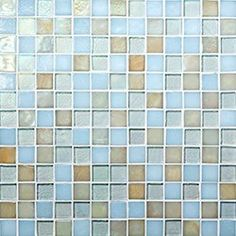 "Oceanside Glasstile...Collection Name: Muse...Color Name: Beach Blonde...Components: Clear Irid, ...Components:  Moonstone Non-Irid, ...Components:   Sandstone Irid...Item Description: 7/8 x 7/8 Field...Square Feet Per Sheet: 1.02...Nominal Size: 12 1/8"" x 12 1/8""...Thickness: .25""...Sample Item Number: 77811"