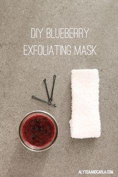 DIY Blueberry Exfoliating Mask Recipe