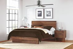 bed from room and board in walnut