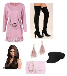 """Untitled #169"" by denisapurple on Polyvore featuring Bamboo, Chanel and Lizzie Fortunato"