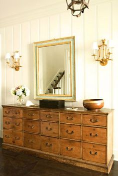 House of Turquoise: James Radin    One of my favorite entries, love the frame on the mirrow and the rustic chest.