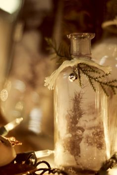 Old Bottles ~ Re-Purposed for Christmas...