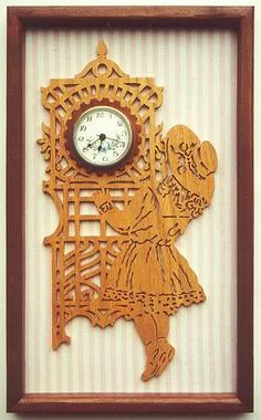 Victorian Girl Clock - The Dale Maley Family Web Site