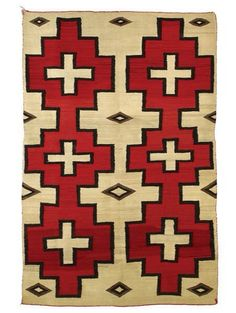 Great color and pattern. Antique Navajo textiles are rarely left on floors anymore, most become wall art.