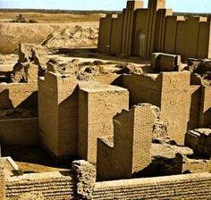 Restos arqueológicos de la antigua ciudad de Babilonia, Irak.