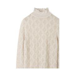 Strik Gold albicant - Aiayu Turtle Neck, Sweaters, Fashion, Moda, Fashion Styles, Sweater, Fashion Illustrations, Sweatshirts, Pullover Sweaters