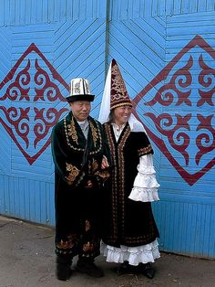 Wedding in Kyrgyzstan. Ask Corey what he thinks about these outfits?