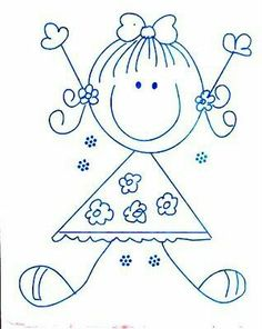 Arts And Crafts With Paper Refferal: 1378703961 Art Drawings For Kids, Doodle Drawings, Drawing For Kids, Easy Drawings, Doodle Art, Art For Kids, Embroidery Patterns, Hand Embroidery, Stick Figure Drawing