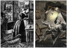 Evangelina Scorbitt realiza una llamada telefónica a J.-T. Maston en una noche con tormenta. Justo en el momento de contestar la llamada, cae un rayo y la corriente pasa a través del hilo telefónico, atravesando el garfio del científico. Este episodio provoca un despiste en Maston, que acaba cometiendo un error en sus cálculos. Ilustraciones de George Roux.