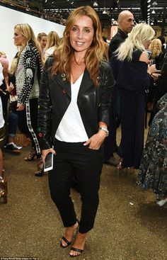 Eternal-y stylish: Louise Redknapp kept it simple in strappy sandals, cropped…