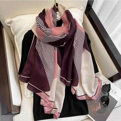 Pashmina Scarf, Cotton Scarf, Long Scarf, Cotton Style, Fashion Prints, Style Fashion, Shawls And Wraps, Scarf Styles, E Design