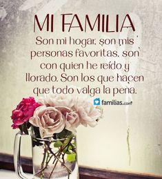 Mi familia son los que hacen que todo valga la pena #familiafrases
