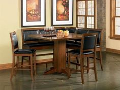 Built of handsome hardwoods, the Coaster Furniture Lancaster Counter Height Dining Table offers a classic appeal along with clean, modern lines. Counter Height Dining Table, Pedestal Dining Table, Oak Dining Table, A Table, Wood Counter, Dining Chairs, Pub Tables, Nook Table, Dinning Set