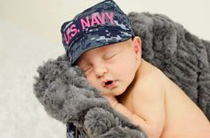 Wow this is too cute. I'll never be able to make it. Pinning to order later. Pink Infant Military Caps  ACU ABU Navy Desert by KaseyCreations, $20.00