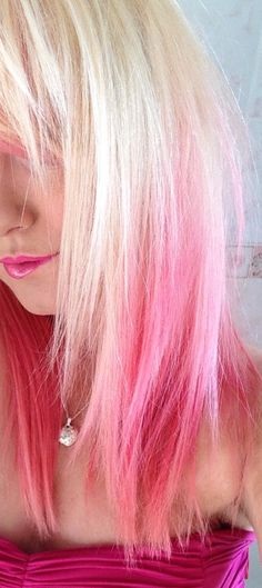 Pink ombre hair !!