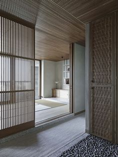 Clayworks Clay Plasters and Wood are the defining materials in this Japanese and Scandinavian design inspired house designed by Takero Shimizaki Architects. Minimalist, Japanese Design, combined with Scandinavian design and a healthy interior were specified by the owner