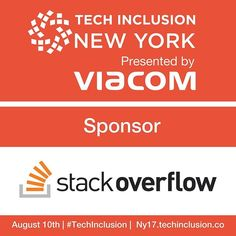 We are thrilled to have such a wonderful sponsoring partner as @StackOverflow who is graciously providing more than a dozen scholarships to support attendees at next week's Tech Inclusion in New York. . Interested in attending? http://tcin.co/2ug0VTA-R