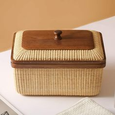 Table Storage, Storage Boxes, Storage Baskets, Home Living Room, Living Room Decor, Dining Room, Dining Table, Room Decorations, House In The Woods