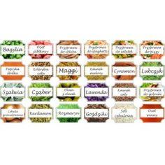 Etykiety na przyprawy, naklejki zestaw 5 96 szt Spice Jar Labels, Spice Jars, Spice Mixes, Mini Foods, Printable Labels, Dollhouse Miniatures, Chili, Curry, Spices