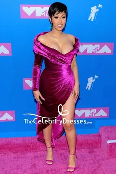 #CardiB #PurpleDress